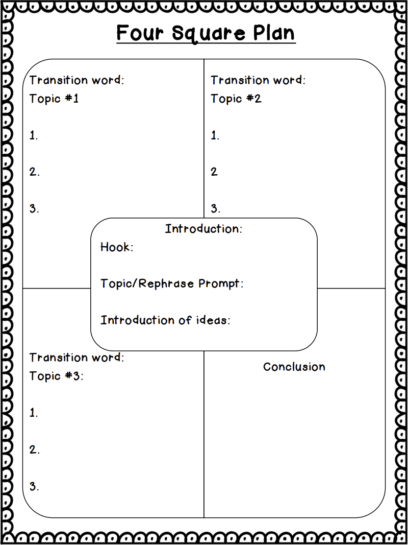 """""""5 Square Paragraphs"""" Writing Technique (all materials and lessons already downloaded in my writing folder)"""