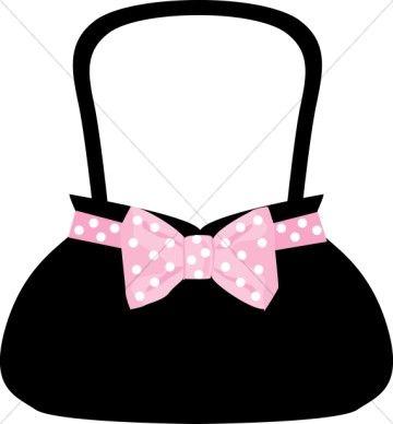 polka dot bow purse volunteer ideas pinterest bow purse rh pinterest com free purse clipart purse clipart black and white