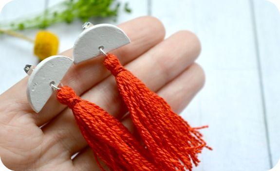 DIY: Pendientes de arcilla y borlas
