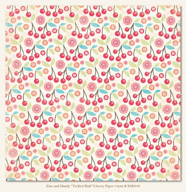 Fine & Dandy 'Tickled Pink' Cheery Paper