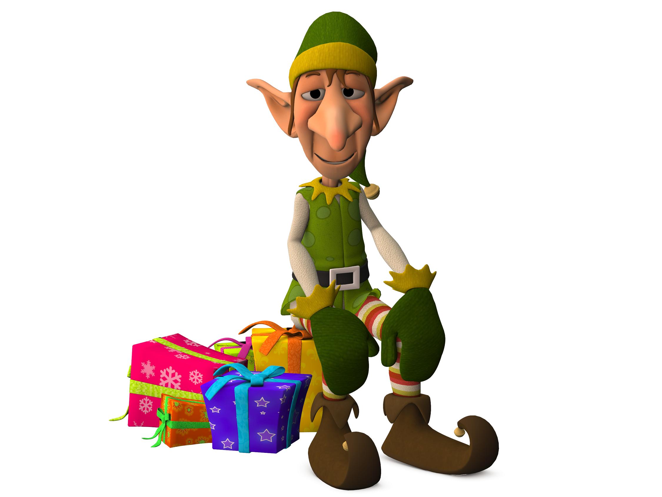 Christmas Elf clip art big 2250x1688 png | Clip Art Holiday ...