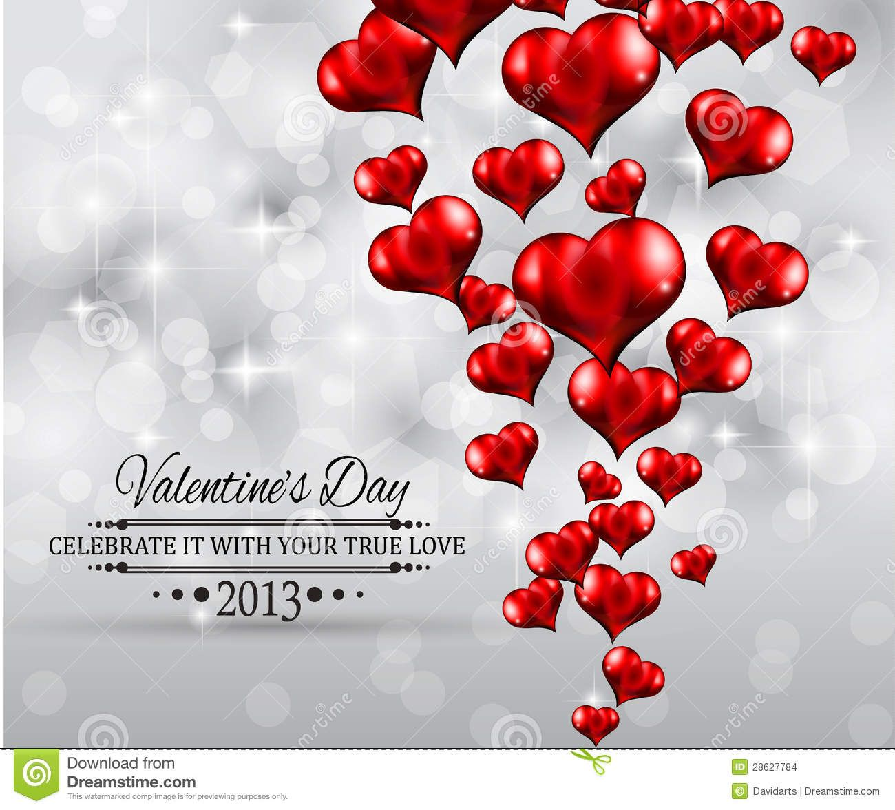 Valentines Day Party Invitation Flyer Background Stock Images ...