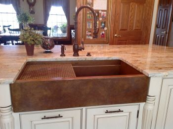 Stone Counter White With Linear Reddish Lines Shows Off This 36