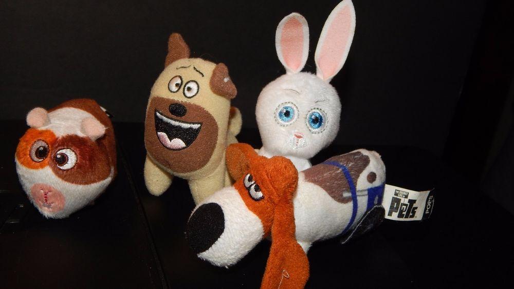 The Secret Life Of Pets Plush Lot Pops Mel Snowball Norman Small Plush Toy 4 Pc Mcdonalds Small Plush Toys Plush Toy Snowball