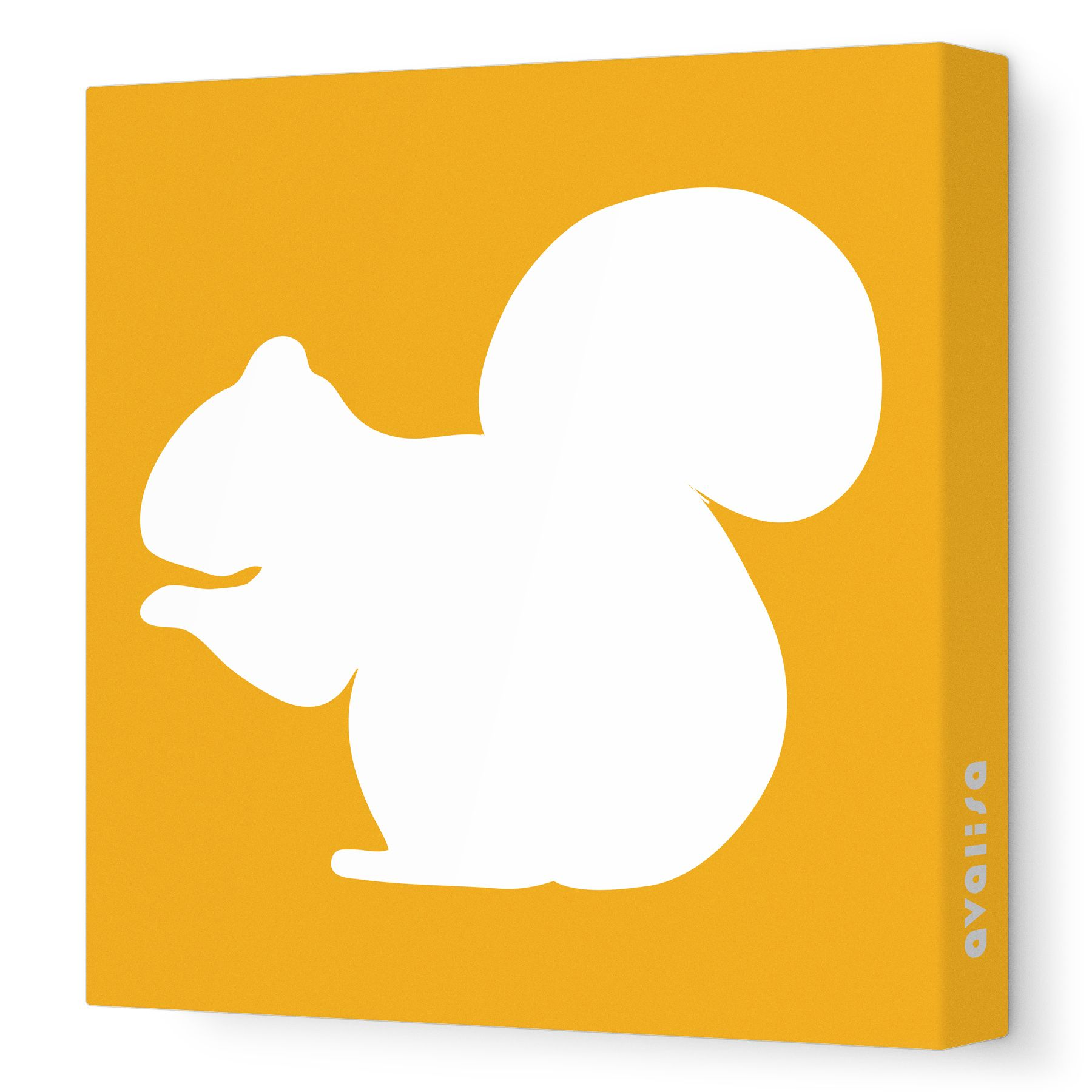 Orange Squirrel Silhouette - Animal Silhouette - Avalisa.com ...