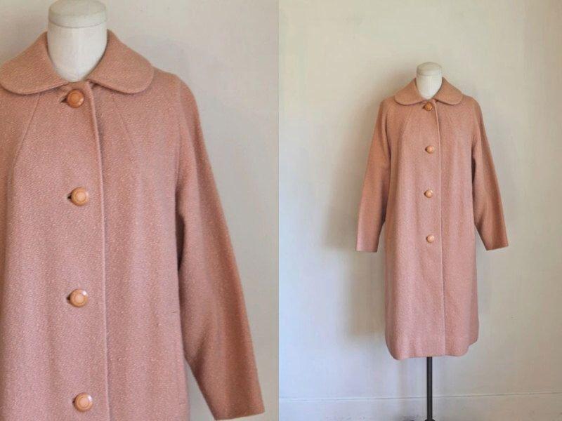 vintage 1960s wool coat - BLUSH pink boucle coat / M/L by MsTips on Etsy https://www.etsy.com/listing/487414025/vintage-1960s-wool-coat-blush-pink