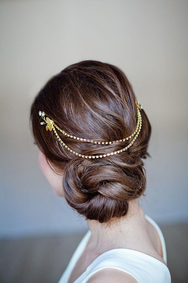 Details about Bridal Hair Vine Boho Gold Head Chain Leaves Tiara Headband Crown Headpiece