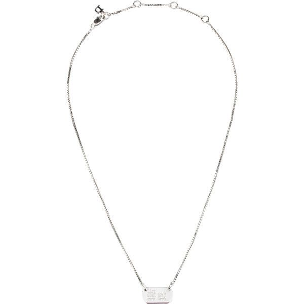 Pre Owned Christian Dior Tag Pendant Necklace 75 Liked On Polyvore Featuring Jewelry Necklaces Silver Silver Necklace Pe Pendant Necklace Pendants Silver Pendant Necklace