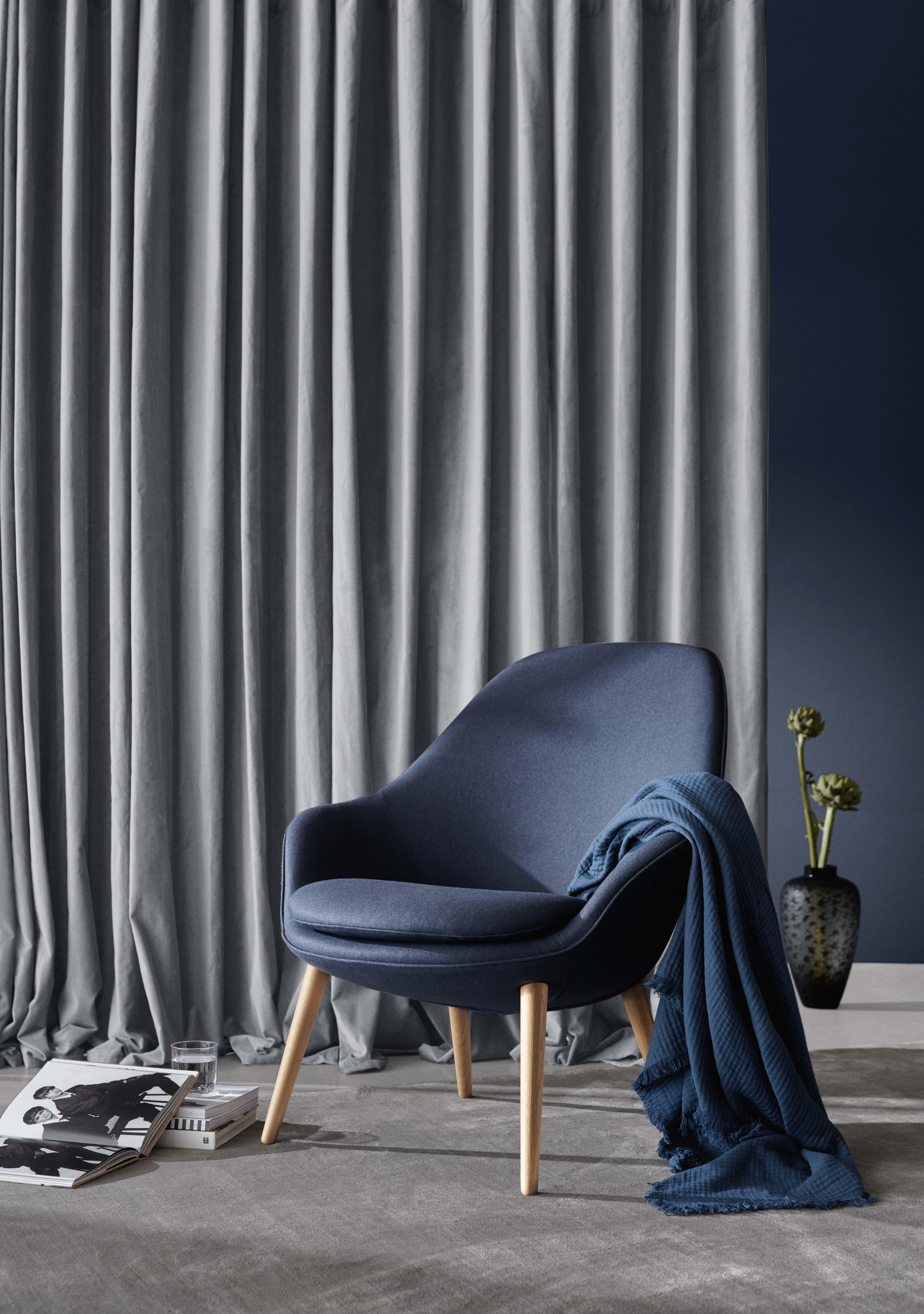 Adelaide Sessel in blauem Lux Felt Stoff. boconcept interiordesign sessel livingroom  ...
