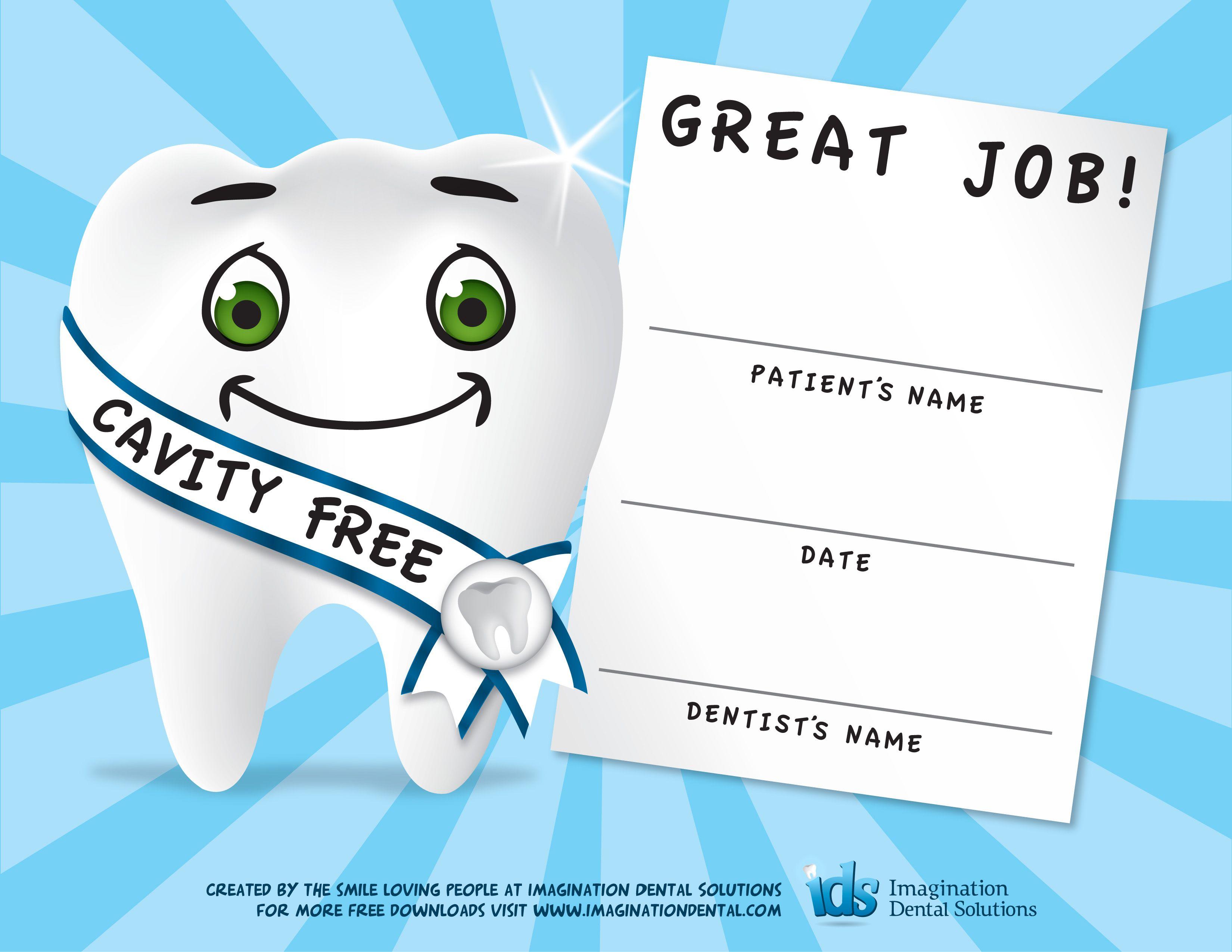 Dental Certificates For Kids Great Positive Reinforcement Idea