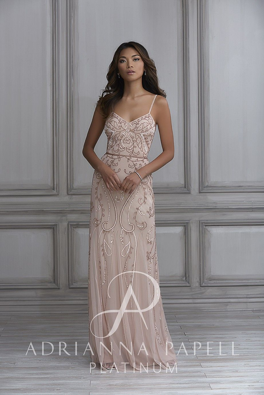 Platinum edition wedding dresses  Fulllength trumpet dress with tulle godets beaded waist and a v