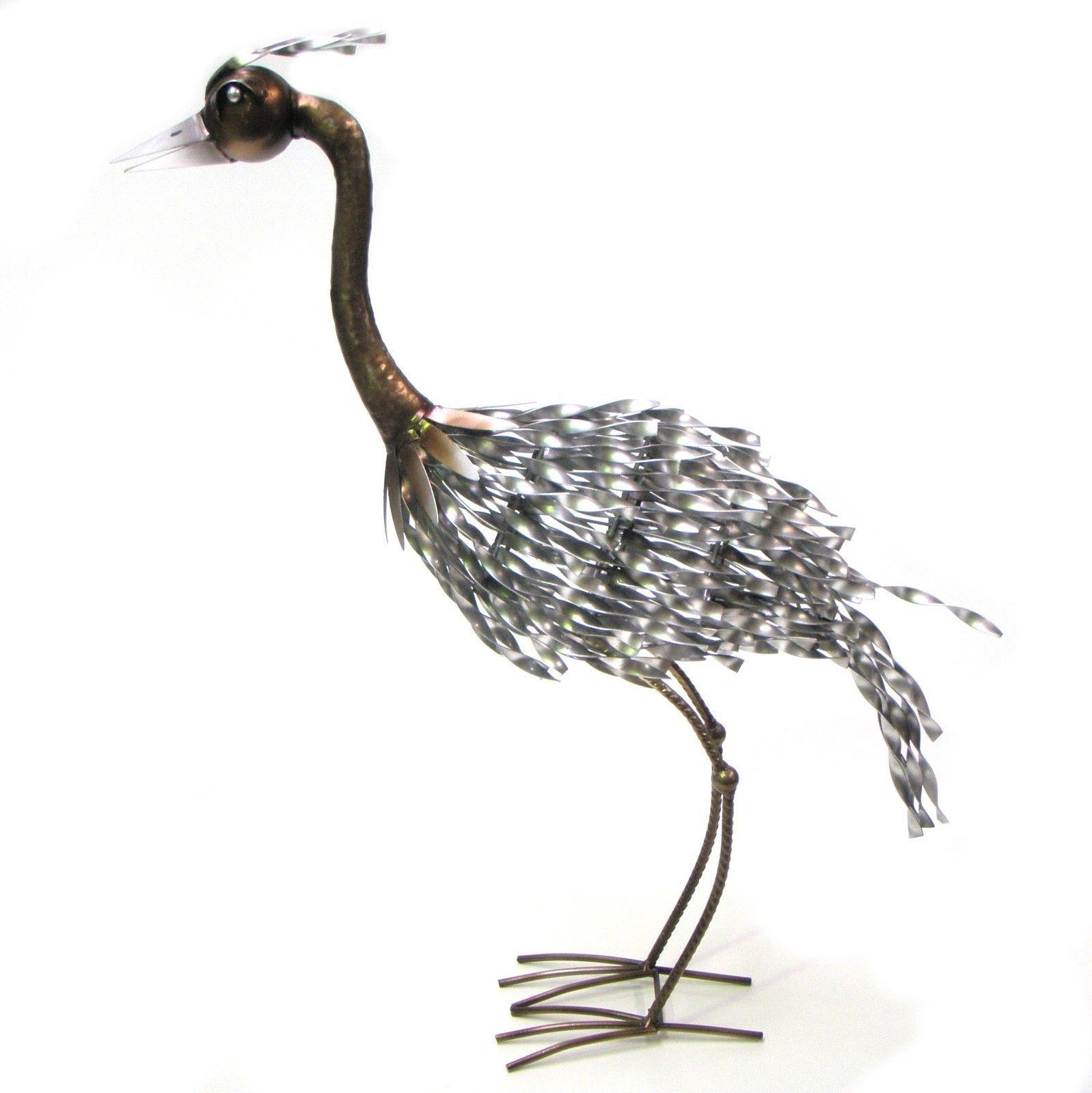 Bird Ornament Statue Metal Garden Crane Sculpture ART BIG EMU 55cm | EBay