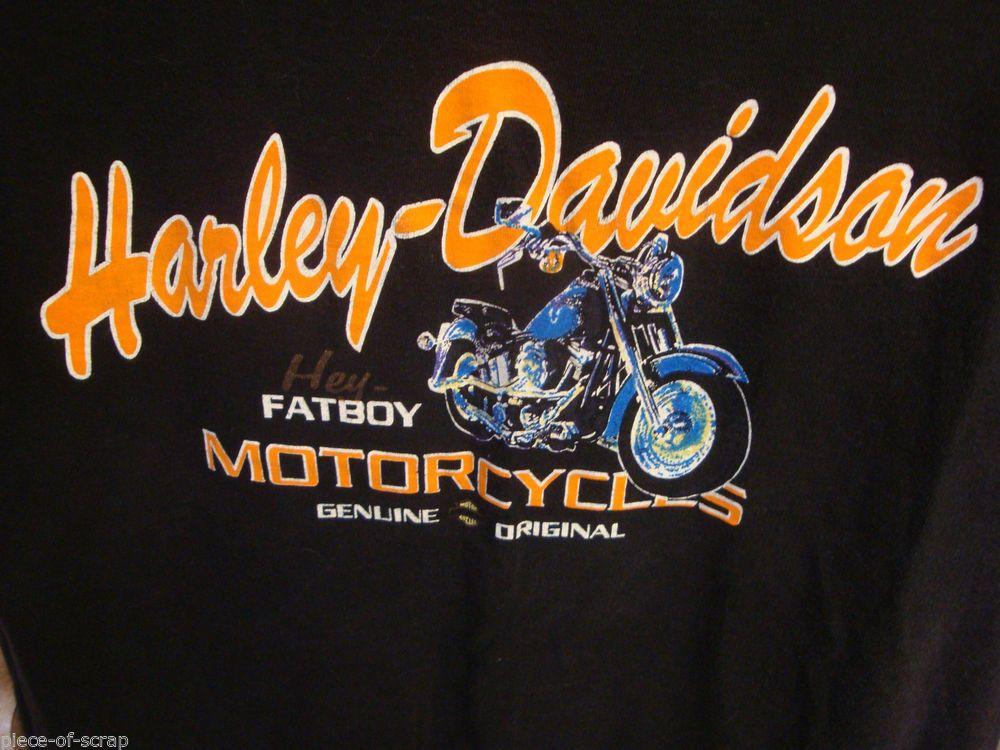 28bf7932b860 HARLEY DAVIDSON Motorcycle Tee Shirt FAT BOY @harleydavidson LARGE T-Shirt T  FATBOY #HARLEYDAVIDSON #Harley
