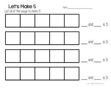 Kindergarten Crayons: Math Mats... not for the front door