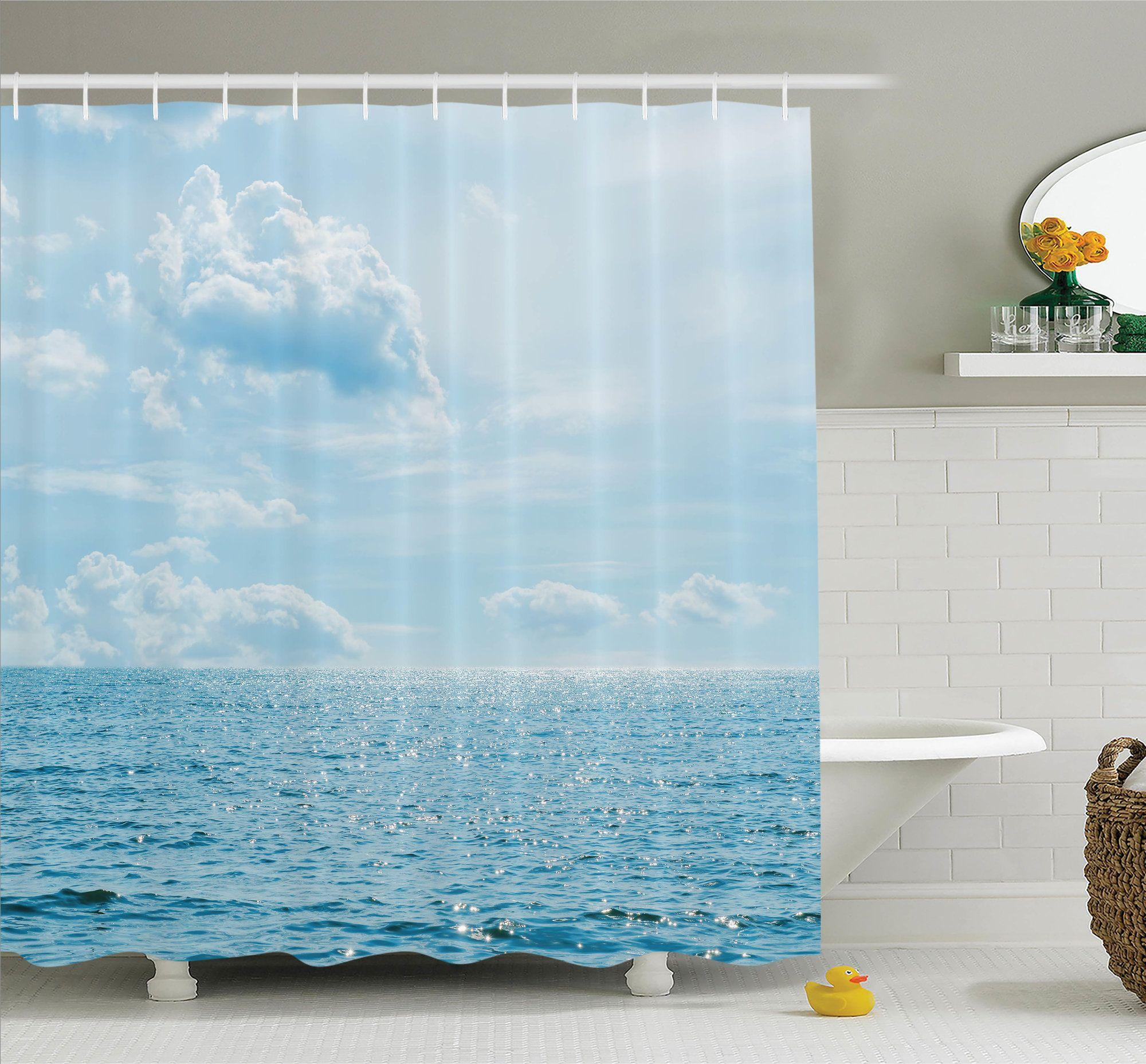 Nautical Calm Sea Paradise Shower Curtain Set | Shower curtain sets ...