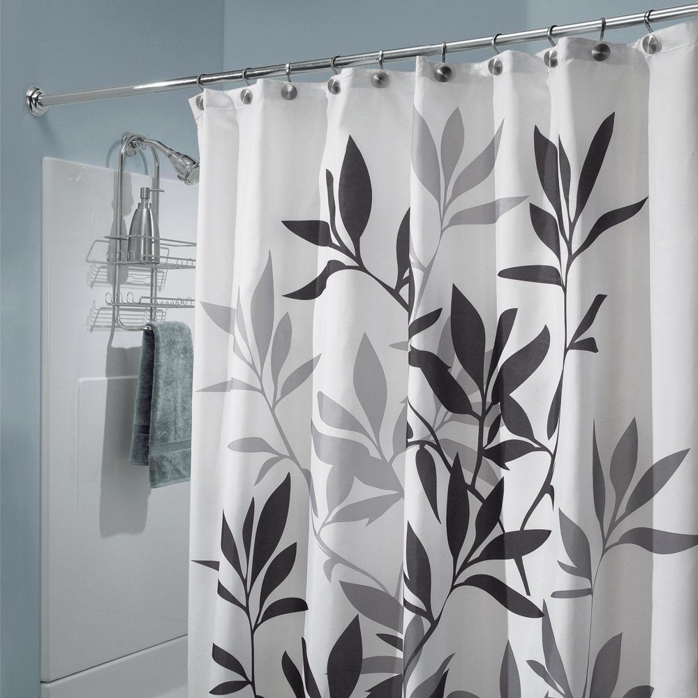 Details About New Fabric Leaves Shower Tub Curtain Home Bath Decor