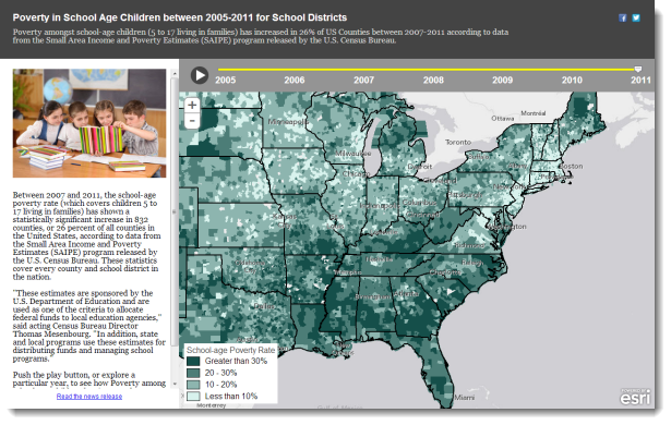 Enhancing A Textonly Announcement With The Power Of A Storymap - Us census buraue interactive map education