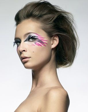 Tiiu Kuik Creative Eye Makeup Birds Make Up