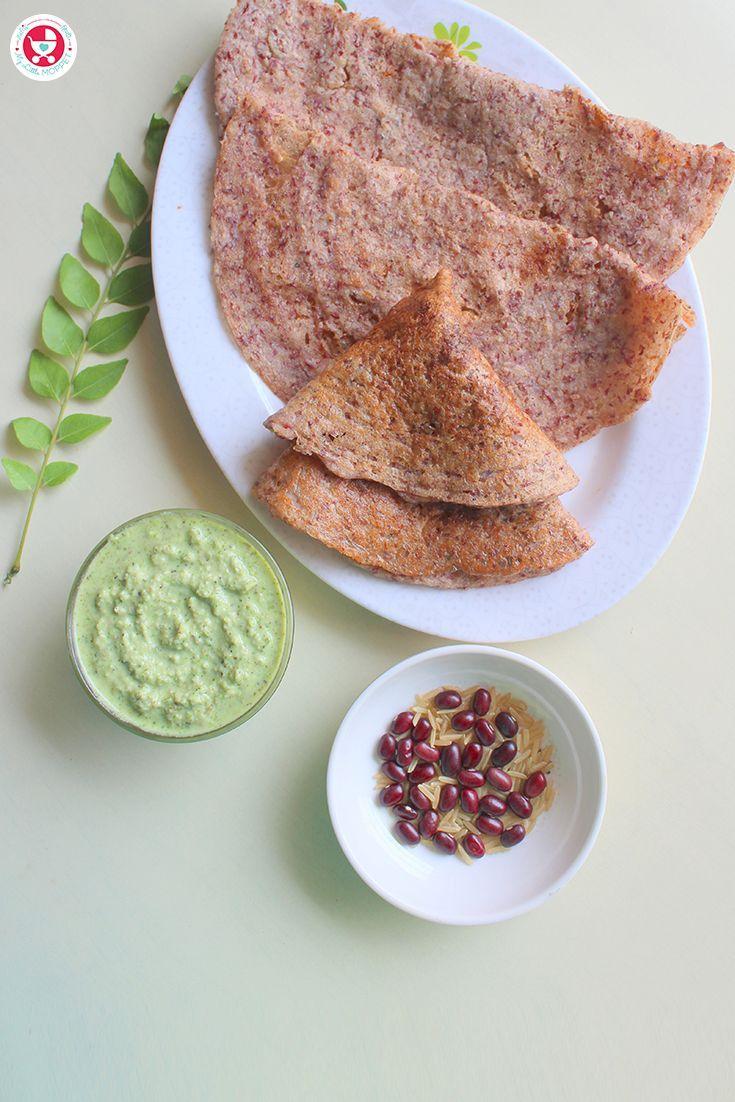 Rajma Dosa / Red Kidney Beans Crepe Recipe Pcos