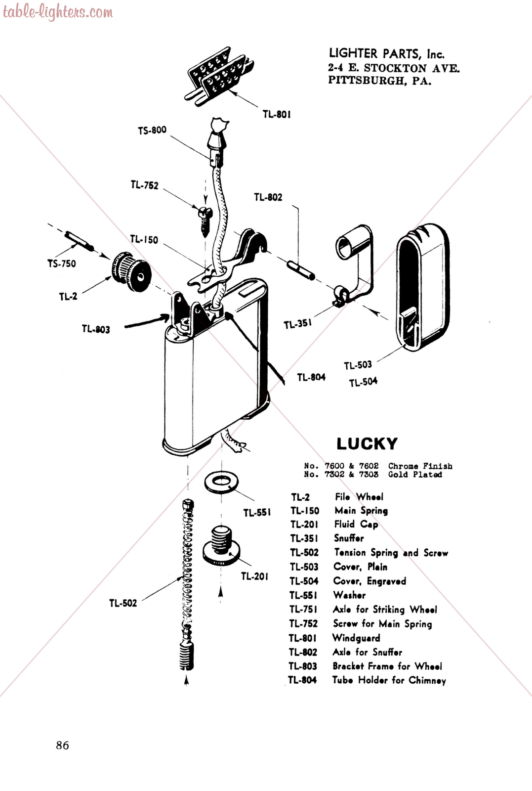 Table Lighters Collectors Guide Lighter Repair Manual