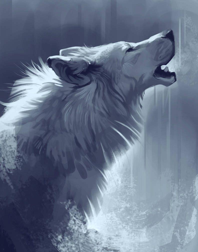 Wolf Drawing by TehChan | Wolf artwork, Wolf art fantasy, Wolf art ...