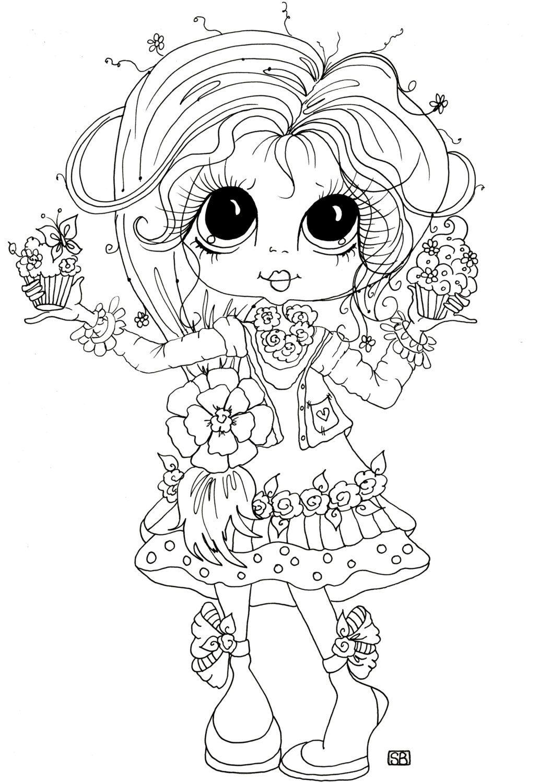 Pin de BloggingByme en Digi Stamps   Pinterest   Muñecas doll ...