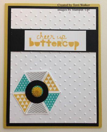 Geometrical Cheer Up card