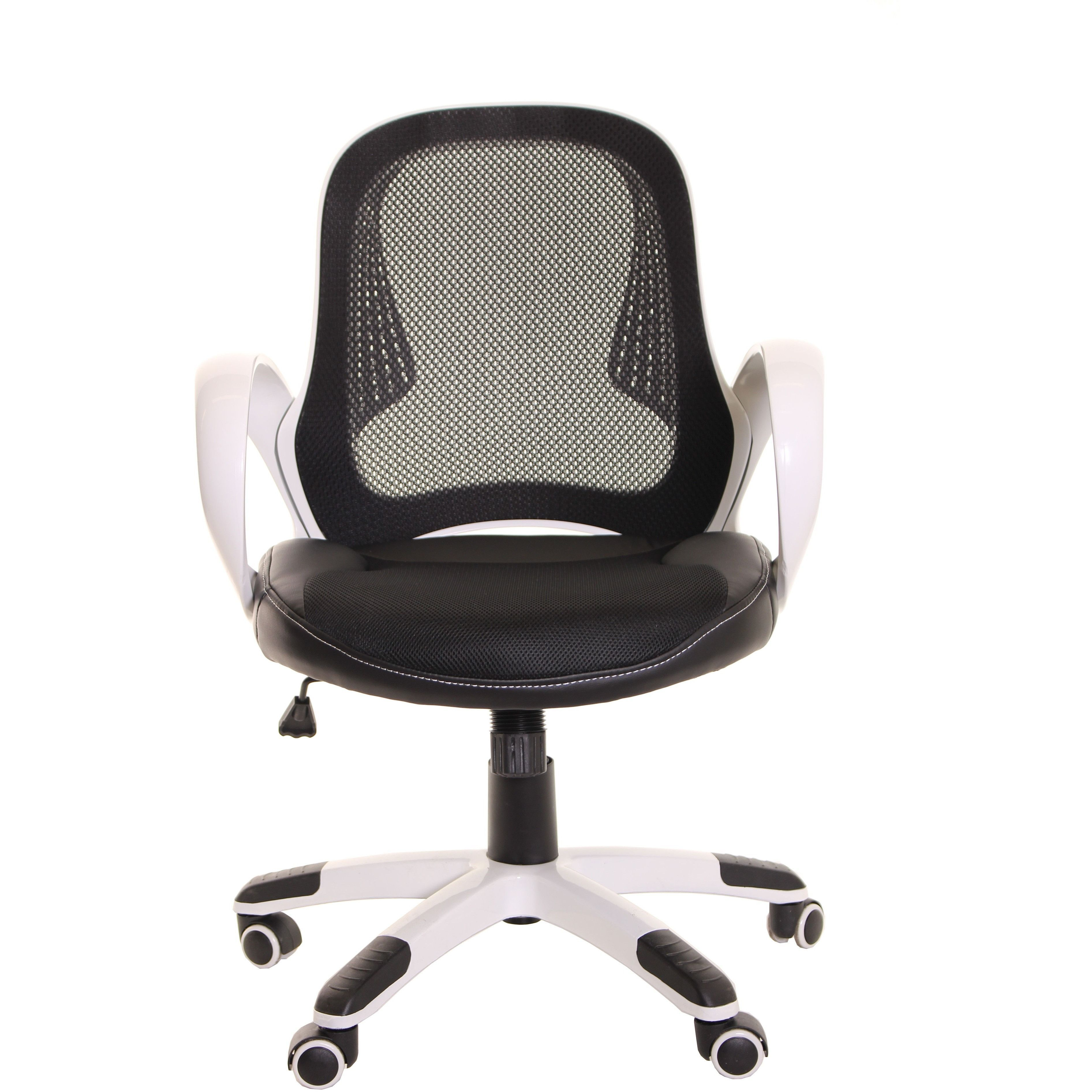 TimeOffice Ergonomic Low Back Black Mesh Task Office Chair With Arms