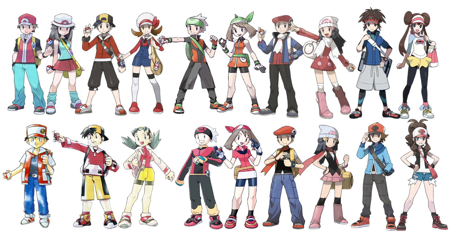 Player Pokemon Game Characters