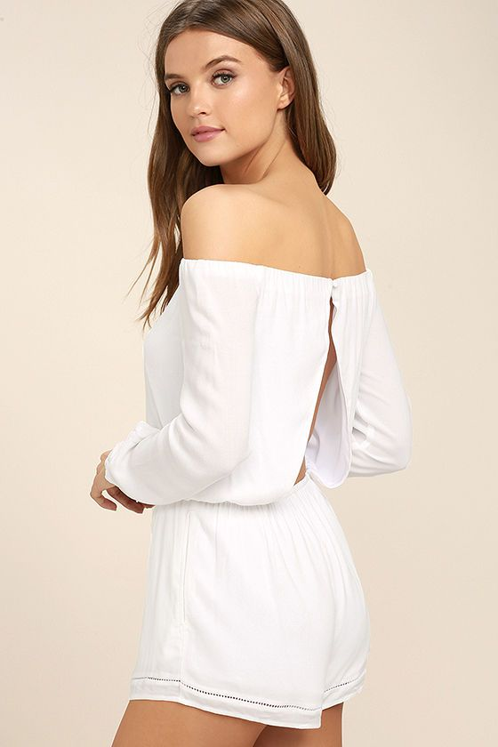 caf7ac053140 When it comes to the Tavik Carey White Off-the-Shoulder Romper