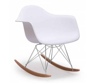 White Bucket Seat Modern Rocking Chair Modern Rocking Chair