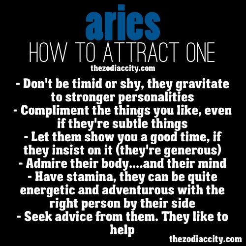 How to get a aries man