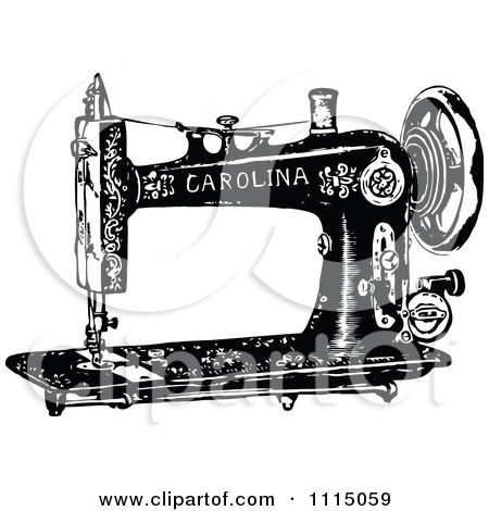 50++ Sewing machine clipart black and white ideas in 2021
