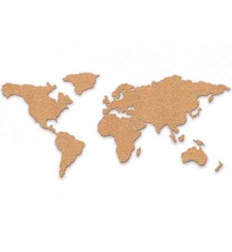 carte du monde bois Carte du monde en liège | Carte du monde deco, Carte du monde