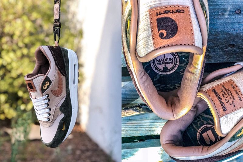 sale retailer 9a673 dc0db BespokeIND Unveils a Carhartt WIP-Inspired Nike Air Max 1 Custom