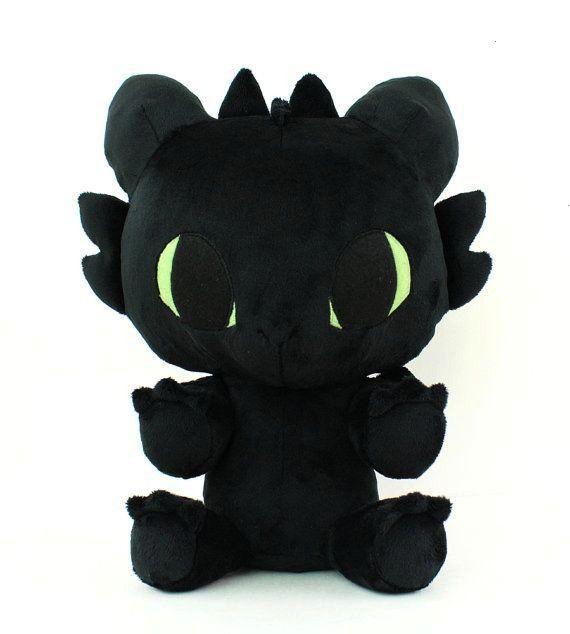 sewing pattern PDF Toothless Baby Dragon stuffed animal - chibi plushie kawaii DIY plushie soft toy