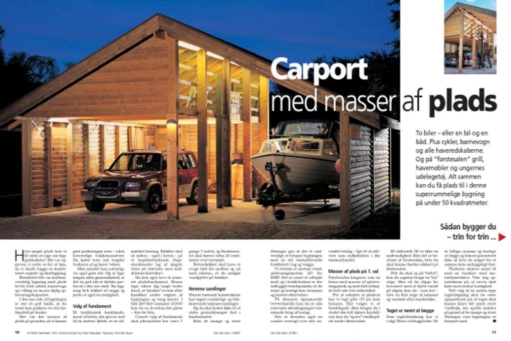 Dobbelt carport med masser af plads Carport, Bygning, Plads