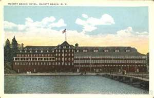 White Border Postcard Olcott Beach Hotel New York