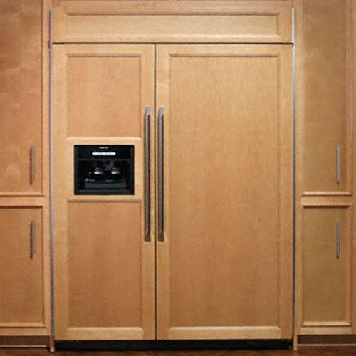 paneled fridge counter depth | Built in refrigerator ...