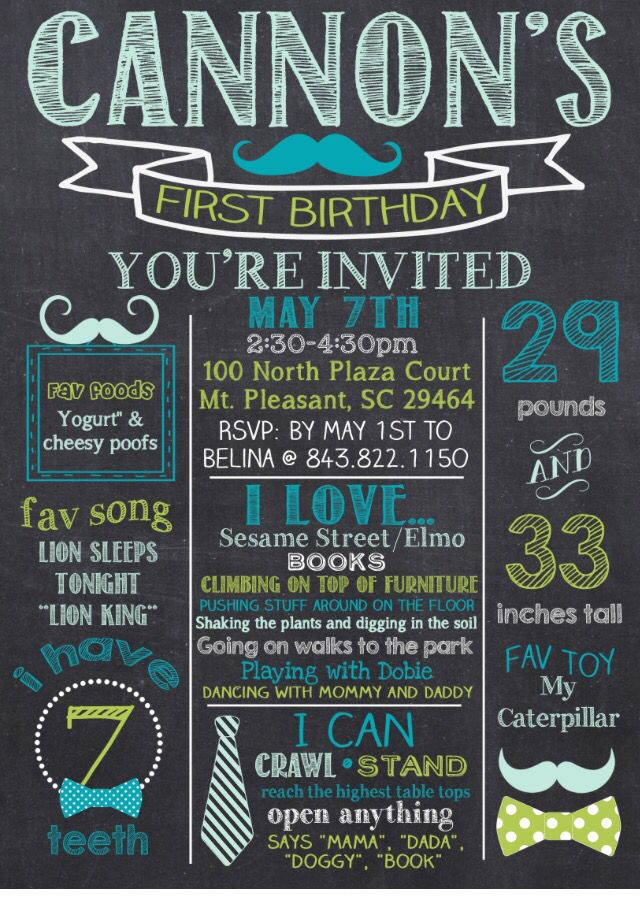 My sons first birthday invitation absolutely love it cannons my sons first birthday invitation stopboris Gallery