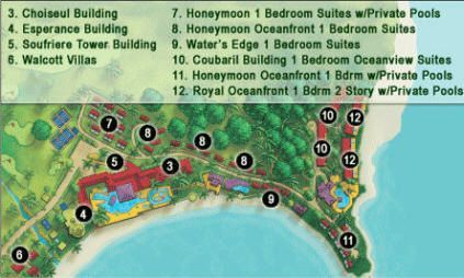 Sandals LaToc St Lucia Resort Map Print a copy to locate your room