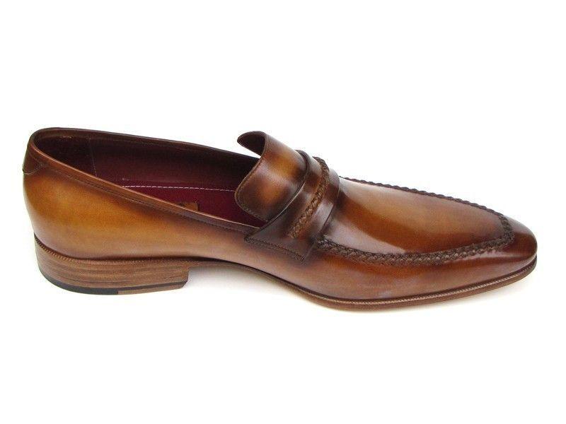 Paul Parkman Men's Loafer Brown Leather Shoes