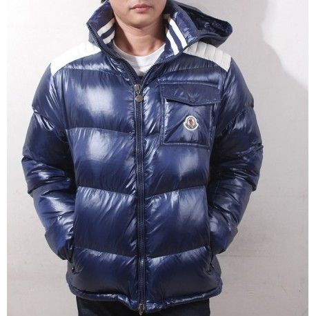 moncler blue down jacket