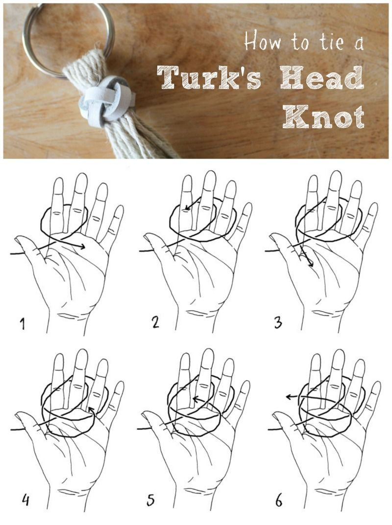 How to tie a decorative Turk's head knot. | Macrame ...
