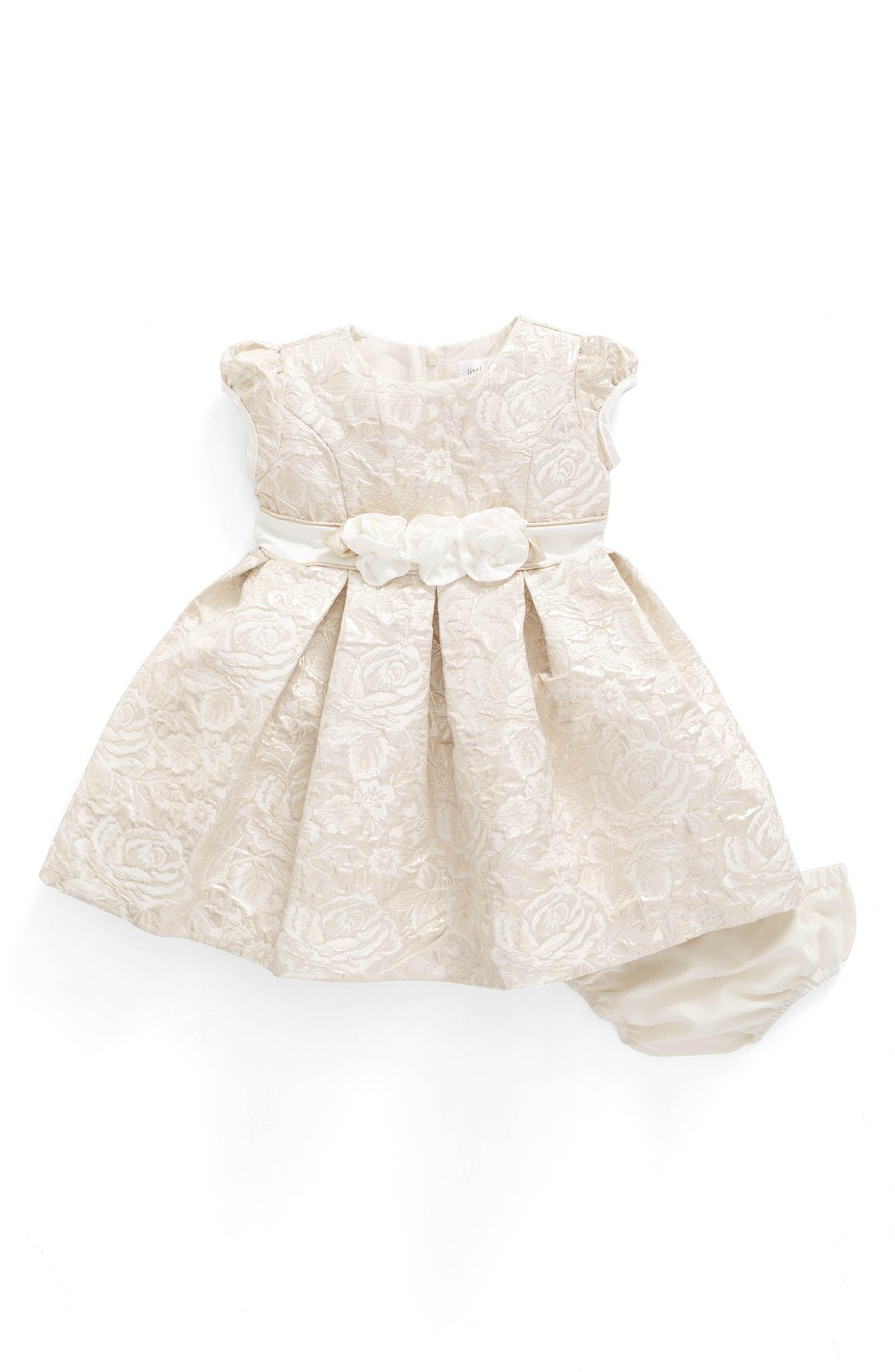 Main Image Us Angels Floral Jacquard Dress Baby Girls