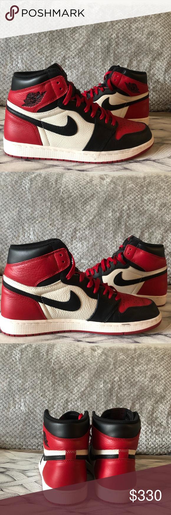 Jordan 1 Bred toe size 11 9.5/10