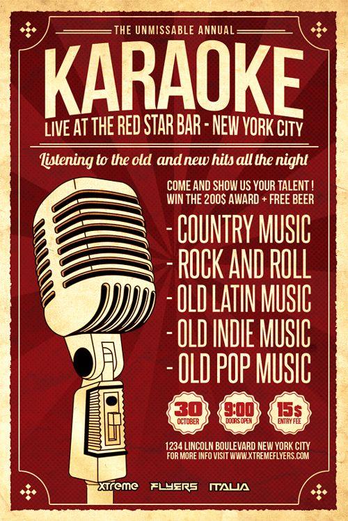 Karaoke Flyer Template  HttpXtremeflyersComKaraokeFlyer