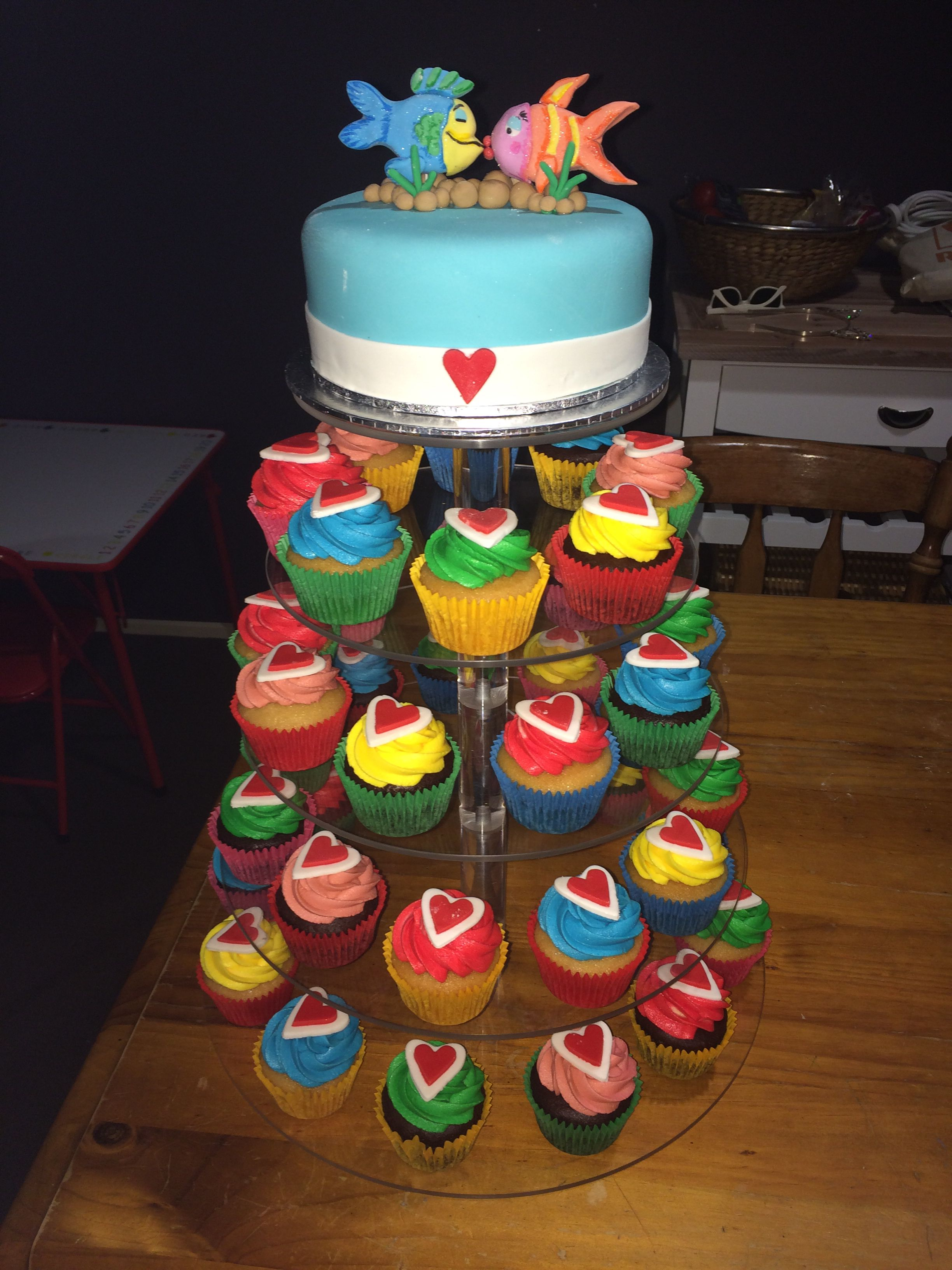 Kids Party Fish Inspired Cupcake Display Mrs Eatons Cupcakes - Childrens birthday party ideas canberra