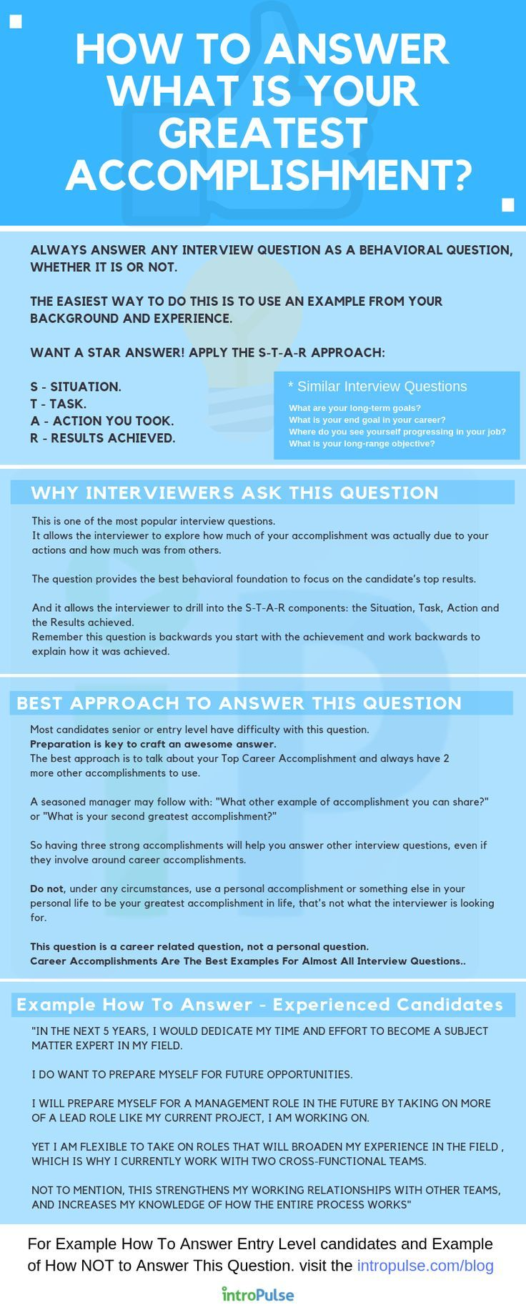 Infographic How To Answer Job Interview Question What Is Your Greatest Accomplishment Job Interview Job Interview Advice Job Interview Tips