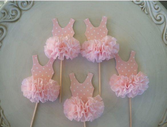 Ballerina cupcake topper Birthday cakes for my princess